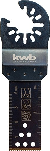 KWB 49709252 - Hoja de sierra de inmersión (22 mm, dentado japones, universal a todas las multi-herramientas, Akku-Top)