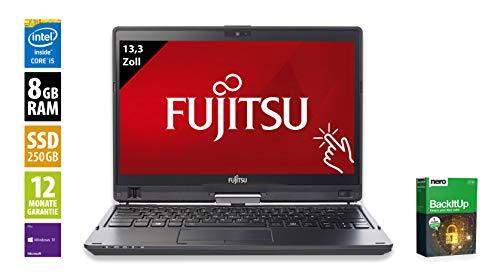 Fujitsu LifeBook T937 | Notebook | Laptop | 13,3 Zoll (1920x1080) | Intel Core i5-7200U @ 2,5 GHz - 8GB DDR4 RAM | 250GB SSD | Windows 10 Pro (Zertifiziert und Generalüberholt) Fujitsu Bluetooth Laptops