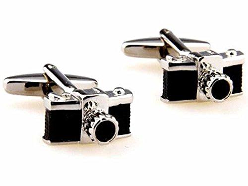 korpikus®' Camera ' acciaio inossidabile fotografi a tema gemelli in sacchetto libero del (Polsino Del Papà Gemelli)