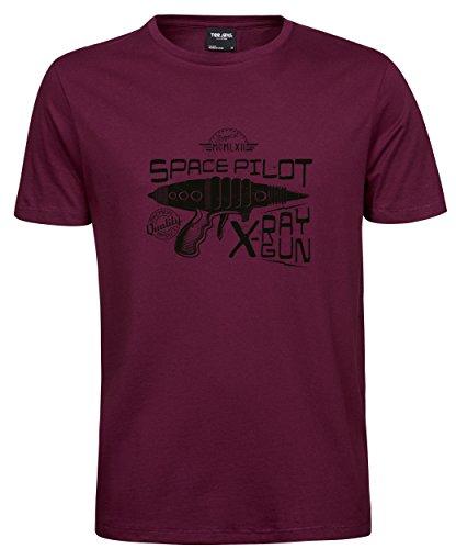 makato Herren T-Shirt Luxury Tee X-Ray Gun Wine L (T-shirt Gun-erwachsenen)