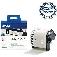 Brother DK-22205 - Papel térmico, color negro y blanco