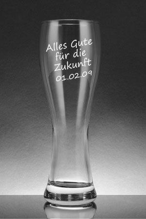 Weizenglas Leonardo Maxima - Weizenbierglas Gravur Geschenke