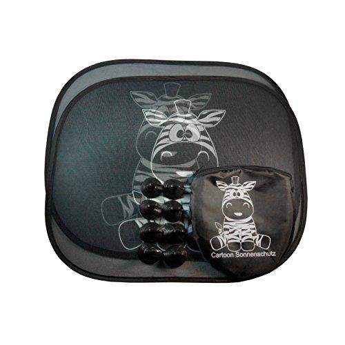 Cartoon-Auto-protezione-solare-Zebra-parasole-per-scudo-lato-aspirazione-di-fissaggio-bambini-e-neonati-Set-di-2
