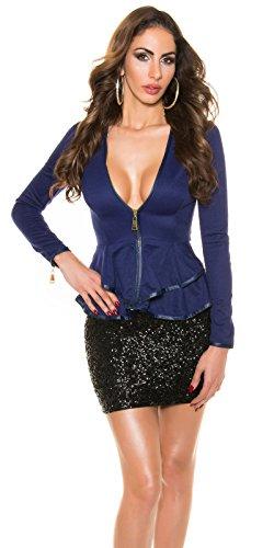 In-Stylefashion - Sweat-shirt - Femme bleu bleu L Bleu