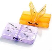 Fornateu Medizin-Speicher-Pille 7 Tag Sorter-Kasten-Behälter-Kasten preisvergleich bei billige-tabletten.eu