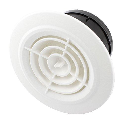 Abzugshaube Runde Lüftungsgitter Air Vent Weiß für 100 mm Rohr (Air-vent-rohr)
