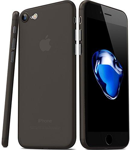 iPhone 7 Hülle, TOZO® [0.35mm] Ultra dünn [ Passt perfekt ] World's dünnste Hard Handyhülle Hülle Schutzhülle Bumper [ Semi-transparent ] Leicht für iPhone 7 4.7 inch [Matte schwarz]
