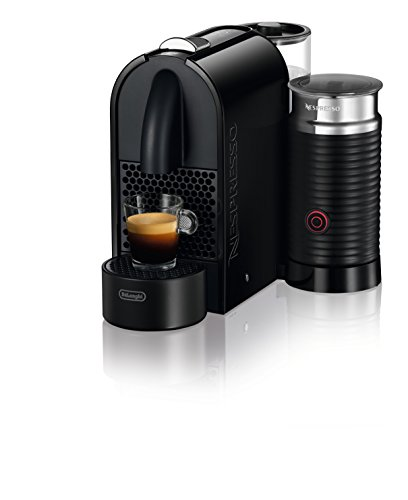 Nespresso U Milk con Aeroccino EN210.BAE Macchina per caffè espresso di De'Longhi, colore Nero (Pure Black) - 6