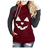 Lazzboy Langarm Hoodie Sweatshirt Frauen Plus Size Halloween Bluse Tops Pullover Damen Mädchen...