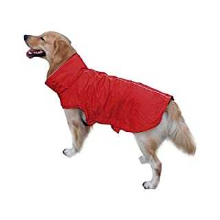 Anladia Hund Regenmantel Haustier Regenmantel Regenjacke Hunderegenmantel Wasserdicht Kleidung pet Dog Raincoat L
