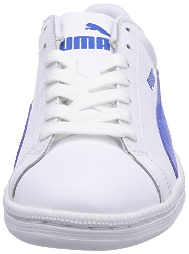 Puma Smash L, Sneakers Basses Adulte Mixte Blanc (White-Strong Blue 08)