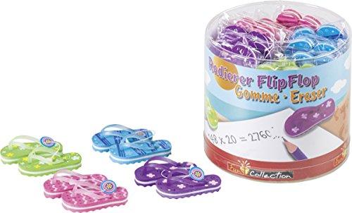 Brunnen 1029979 Radiergummi / Radierer Flip Flop Fun Collection, 4 x 3 cm, 2er-Set, 4 verschiedene...