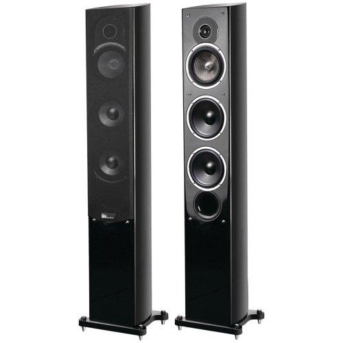Pure Acoustics Standlautsprecher Noble F II schwarz pianolack (Paar)