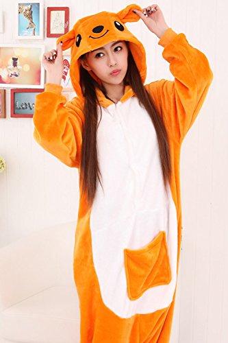 Babyonlinedress Adulte Unisexe Combinaison Pijama Pyjama Onesie Outfit Nuit Anime Animal Costume Cosplay Soirée de Déguisement Kangourou