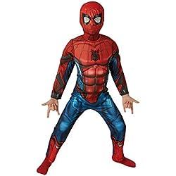 Spiderman Disfraz infantil Deluxe, M (Rubie's Spain 630845-M)