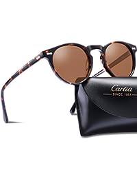 Carfia Occhiali Tondi da Sole Retro Occhiali da Sole Unisex Occhiali per Gli Uomini e Donne UV400 Polarizadas