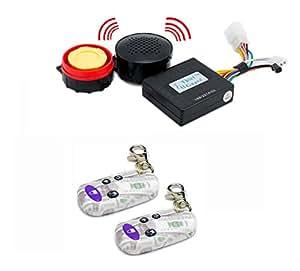 Bike Voice Assist Central Locking Alarm System Transparent Remote