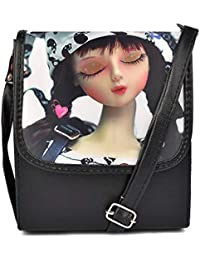Don Cavalli Photo Print Designer Sling Bag For Women