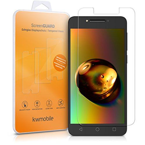 kwmobile Alcatel A5 LED Folie - Glas Handy Schutzfolie für Alcatel A5 LED - Full Screen Bildschirm Schutz