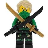 LEGO Ninjago Minifigur Lloyd - Skybound aus Set 70593 mit 2 GALAXYARMS Schwertern