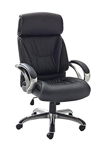Robas Lund 62456S3 y de oficina con reposabrazos, 66 x 72 x 103 -111 cm, negro