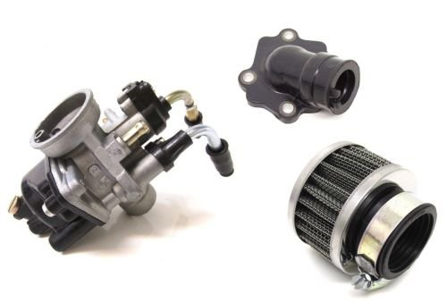 17,5 mm carburateur tuning Kit & Collecteur d'admission pour Yamaha Neos Jog RR Aerox, MBK Nitro Ovetto Mach G AC LC