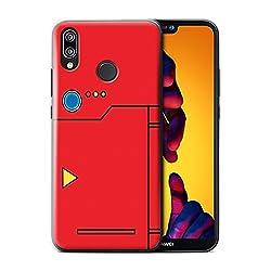 Stuff4 Hülle/Case für Huawei P20 Lite/Rot Muster/Anime Cartoon Kodex Kollektion