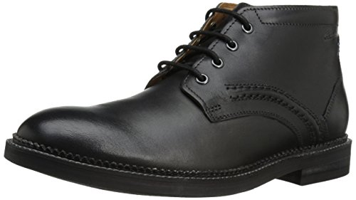 Clarks Bushwick Mid Chukka Boot Black Leather