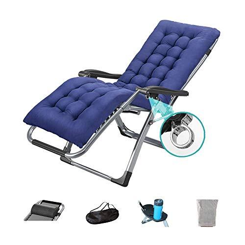Deck-kissen-lagerung (CCDZDM Schaukelstuhl Zero Gravity Chair Outdoor Lounge Patio Stuhl Mit Kissen Und Utility Tray Verstellbarer Klappstuhl Für Deck, Strand, Hof, Balkon-Optionales Kissen (Farbe: Stuhl + Matte), B, B)