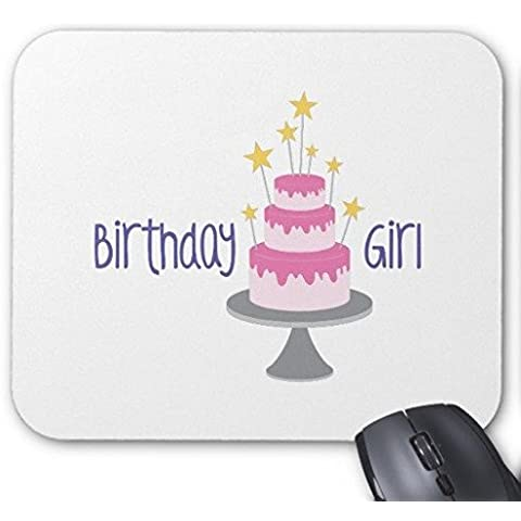 Mouse Pad da gioco torta di compleanno su bianco rettangolo Ufficio Mouse 22,9x 17,8cm