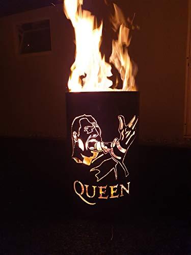 *Tiko-Metalldesign Feuertonne Queen – Freddie Mercury*