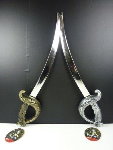 2 STück Piraten Säbel ca 52 cm, Piratenschwert, Piratensäbel