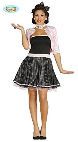 GIRL - Größe 42-44 (L), USA 50er Jahre Pink Ladies Lady Grease Musical Film Theater Aufführung Bluse Blouson (Pink Ladies Aus Grease Kostüme)