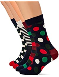 Happy Socks Holiday Big Dot Gift Box Socks Pack of 4