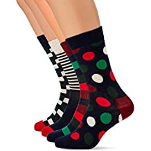 Happy Socks Holiday Big Dot Gift Box, Calcetines para Hombre (Pack de 4)