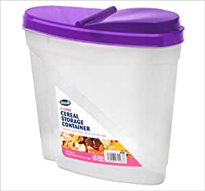 4 Litre Plastic Clear Cereal Storage Container - Great for all sorts of food by Sozali