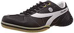 Columbus Mens Black and White Mesh Running Shoes - 10 UK (F-1)