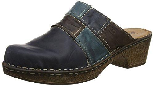 Josef Seibel Damen Rebecca 61 Pantoletten, Blue (Jeans/Multi), 42 EU (Clogs Denim Leder)