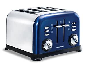 Morphy Richards 44730 Toaster Blue Accents 4 Tranches