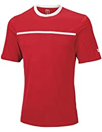 Wilson Team T-Shirt Homme Rouge/Rouge/Blanc FR : S (Taille Fabricant : S)