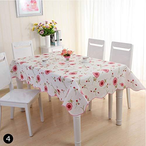 HOUZII Mesa de Cocina al Aire Libre Mantel de Cocina Impermeable Decoración y Resistente al Aceite PVC Hogar Cártamo Impreso Mantel 135x180
