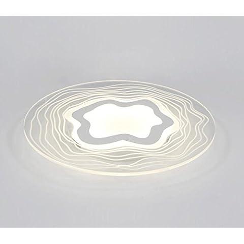 LYXG Ultra-slim circolare a LED soffitto camera luminosa luce moderna (440mm*440 mm*45mm)24W, della personalità e (Raso Bianco Vernice)