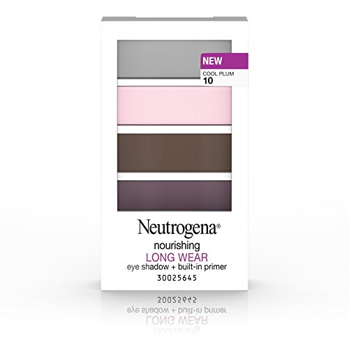 Neutrogena Nourishing Long Wear Eye Shadow Plus Primer, Cool Plum, 0.24 Ounce