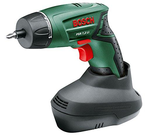 Preisvergleich Produktbild Bosch DIY Akkuschrauber PSR 7,2 LI, Akku, Ladegerät, 10 Standard Schrauberbits, Koffer (7,2 V, 1,3 Ah, max. Schrauben-Ø: 6 mm)