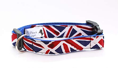 Pet Pooch Boutique Hundehalsband, Motiv Union Jack, XL, XL