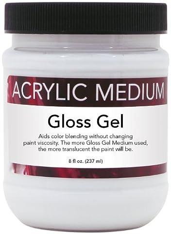 Art Advantage 8-Ounce Acrylic Gloss Gel. Medium by Art Advantage
