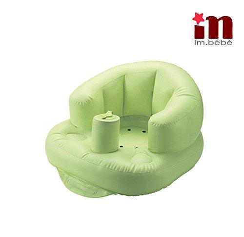 Imbebe siege bebe gonflable multifonction(douche,repas,plage,jeux etc.) en PVC- pompe integree pour enfant de 6mois- 5ans