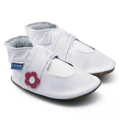 Inch Blue - 0981 M - Chaussures Bébé Ouvertes Souples - Mary Jane - Blanc - T 19-20 cm