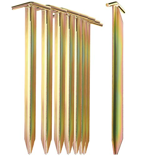 com-four® 4X Zelt-Heringe aus Stahl - Lange und robuste Erdnägel mit T-Profil für Camping und Outdoor - ideal für normalen und harten Boden