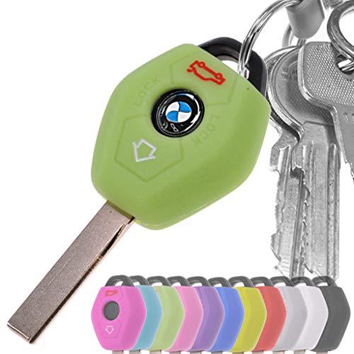 Auto Schlüssel Hülle Silikon Schutz Cover Fluoreszierend Grün für BMW E46 E83 E52 E85 E86 E39 E61 E60 E53